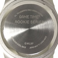"""Game Time Unisex MLB-ROB-NY5 """"Rookie Black"""" Watch - New York Yankees - """"Tophat Logo"""""""