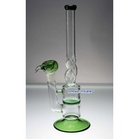 """Green 13"""" Honey Comb Twisted Glass - Glass Bongs - 139.99 US and Canada"""