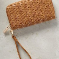 Deux Lux Whipperweave Vegan Leather Wristlet