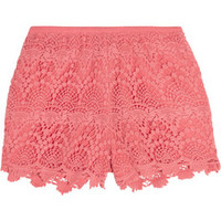 Tart Kendall crocheted lace shorts – 55% at THE OUTNET.COM
