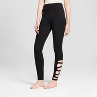 Women's High Waist Caged Ankle Leggings - Mossimo Supply Co.™ Black