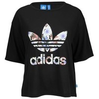adidas Originals Lotus Cropped Logo T-Shirt - Women's