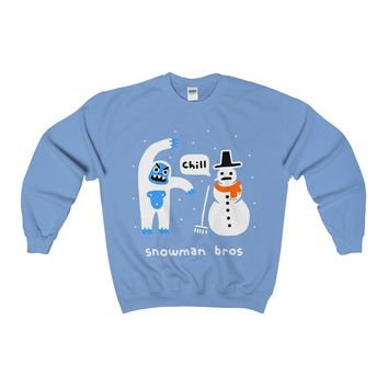 Snowman Bros Ugly Christmas Sweater Sweatshirt