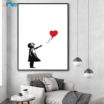 Banksy Canvas Art Print Wall Art Canvas Painting Nordic Posters And Prints Wall Pictures For Living Room Abstract Cuadros Decor|Painting & Calligraphy