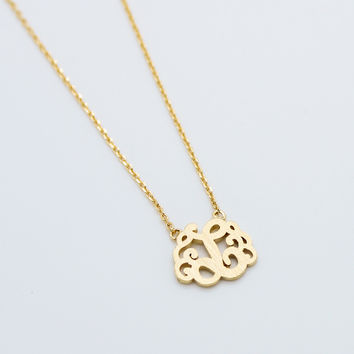 Initial monogram necklace