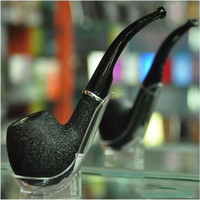 Hot  Hookah Vintage Durable Stone Style Cigar Cigarette Smoking Tobacco Pipe Black