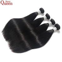 Queen Story Brazilian Straight Hair Weave Bundles Natural Color 10-28 Inch Human Hair Bundles 1 Piece Remy Hair Extension