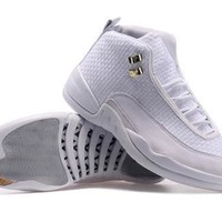 Cheap Air Jordan Future 12 Silver White Shoes