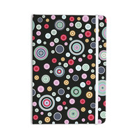 """Suzanne Carter """"Circle Circle II"""" Black Multicolor Everything Notebook"""