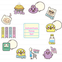 Instant Download Adventure Time Stickers