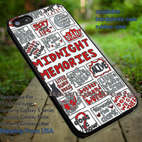 Collage song art,one direction,midnight memories,iphone6 6plus,harry styles,5sos case/cover for iPhone 4/4s/5/5c/6/6+/6s/6s+ Samsung Galaxy S4/S5/S6/Edge/Edge+ NOTE 3/4/5 #music #1d ii
