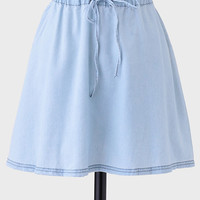 Hop To It Chambray Skirt