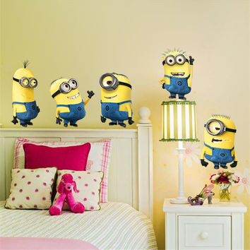 Minions Movie Wall Stickers For Kids Room Home Decorations FREE SHIPPING