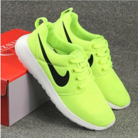 NIKE Women Men Running Sport Casual Shoes Sneakers Fluorescence green