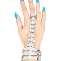 CRYSTAL SKELETON CUFF