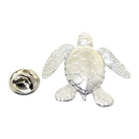 Sea Turtle Pin ~ Antiqued Pewter ~ Lapel Pin