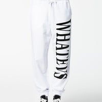 WHATEVS JOGGERS - White Sweatpants by ESTRADEUR