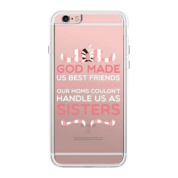God Made Us Pink BFF Phone Case Cute Clear Phonecase