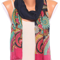 floral scarf shawl birthday gift Summer Scarves womens Scarves spring scarf pareo Womens Fashion scarves womens Accessories pink navy