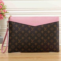 Best Gifts Louis Vuitton Women Fashion Leather Clutch Bag Wristlet Handbag
