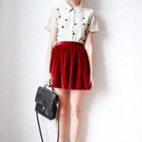 tea and tulips boutique - one of a kind vintage. — different dots blouse