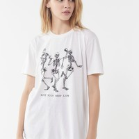 Live Your Best Life Skeleton Tee | Urban Outfitters