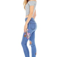 Garden Patch High Waist Skinny Jeans