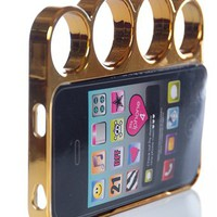 Brass Knuckles iPhone 4/4s Phone Case - Gold from Jewelry & Accessories at Lucky 21 Lucky 21
