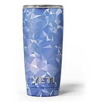 Blue Geometric V16 - Skin Decal Vinyl Wrap Kit compatible with the Yeti Rambler Cooler Tumbler Cups