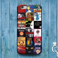 iPhone 4 4s 5 5s 5c 6 6s plus iPod Touch 4th 5th 6th Generation Custom Square Famous New York Broadway Play Movie Collage Cover Cute Case