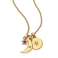 Elizabeth and James - Nova Ruby & White Topaz Moon Star Multi-Pendant Necklace - Saks Fifth Avenue Mobile