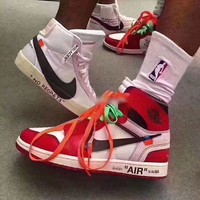 Air Jordan 1 Off White AJ1 Men Fashion Basketball Sneakers Sport Shoes