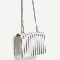 CONTRASTING STRIPES LEATHER CROSSBODY BAG - View all-BAGS-WOMAN-SALE | ZARA United States