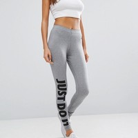 Nike Leg A See Leggings In Grey at asos.com