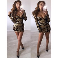 Meina Gold Special Occasion Mini Dress