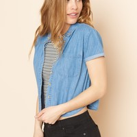 Crop Short Sleeve Shirt