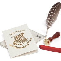 Harry Potter Hogwarts Stationary Letter Set and Wax Seal Kit - Exclusive