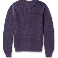 Gucci Waffle-Knit Wool and Cashmere-Blend Sweater   MR PORTER