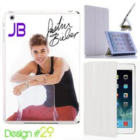 Custom # 29 IPad Air Smart Cover Justin bieber Leather Magnetic case