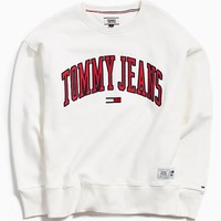 Tommy Jeans Collegiate Crew Neck Sweatshirt | Urban Outfitters