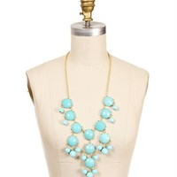 Gold/Aqua Bubble Necklace