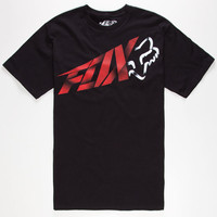 Fox Riptide Mens T-Shirt Black  In Sizes