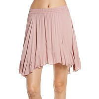 FREE PEOPLE Womens Pink Above the Knee Pleated Skirt  Size: S