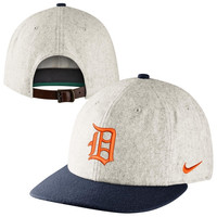 Nike Detroit Tigers Cooperstown Wool Leather Strapback Hat - Gray
