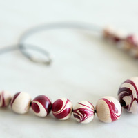 Jewellery Collection (Necklace, Bracelet), wooden beads handpainted