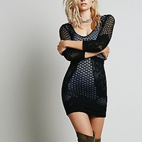 Intimately Womens 3/4 Textured Bodycon Slip