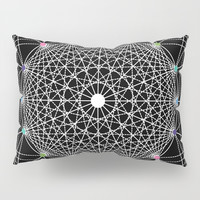 Geometric Circle Black/White/Colour Pillow Sham by Fimbis
