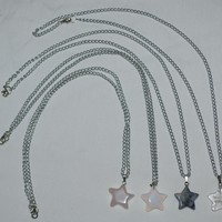 Tiny Gemstone Star Necklaces