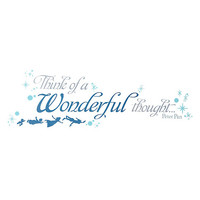 Disney Peter Pan Wonderful Thoughts Wall Decals
