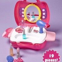 Carry Along Play Sets Kitchen Beauty Salon Doctor Workshop Pretend